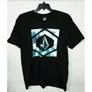 Men's Volcom Pre-shrunk Cotton Black L